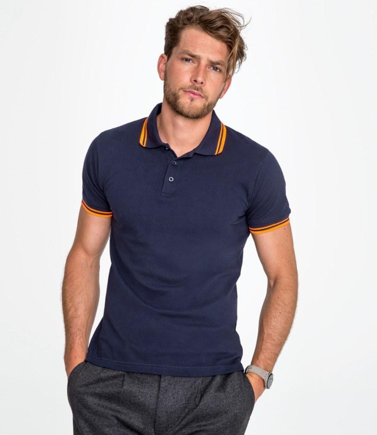 SOL/'S Pasadena Tipped Cotton Piqué Polo Shirt