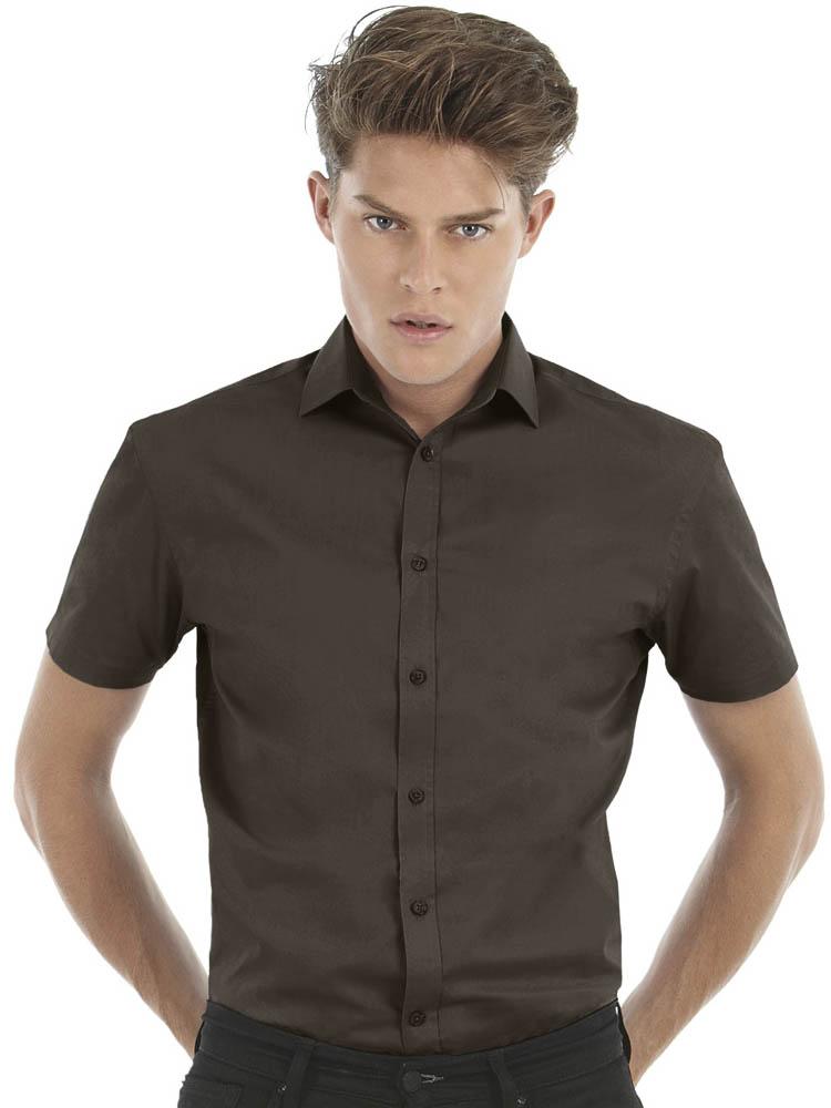 B C Black Tie Short Sleeve Shirt