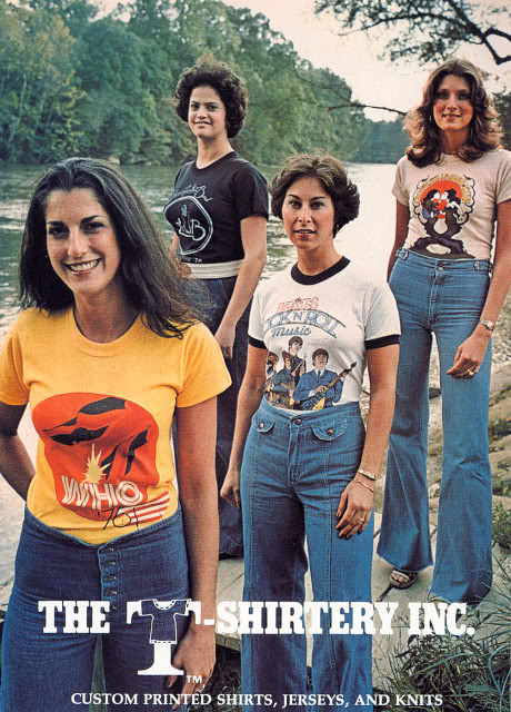 Bell Bottom Jeans and T-Shirts