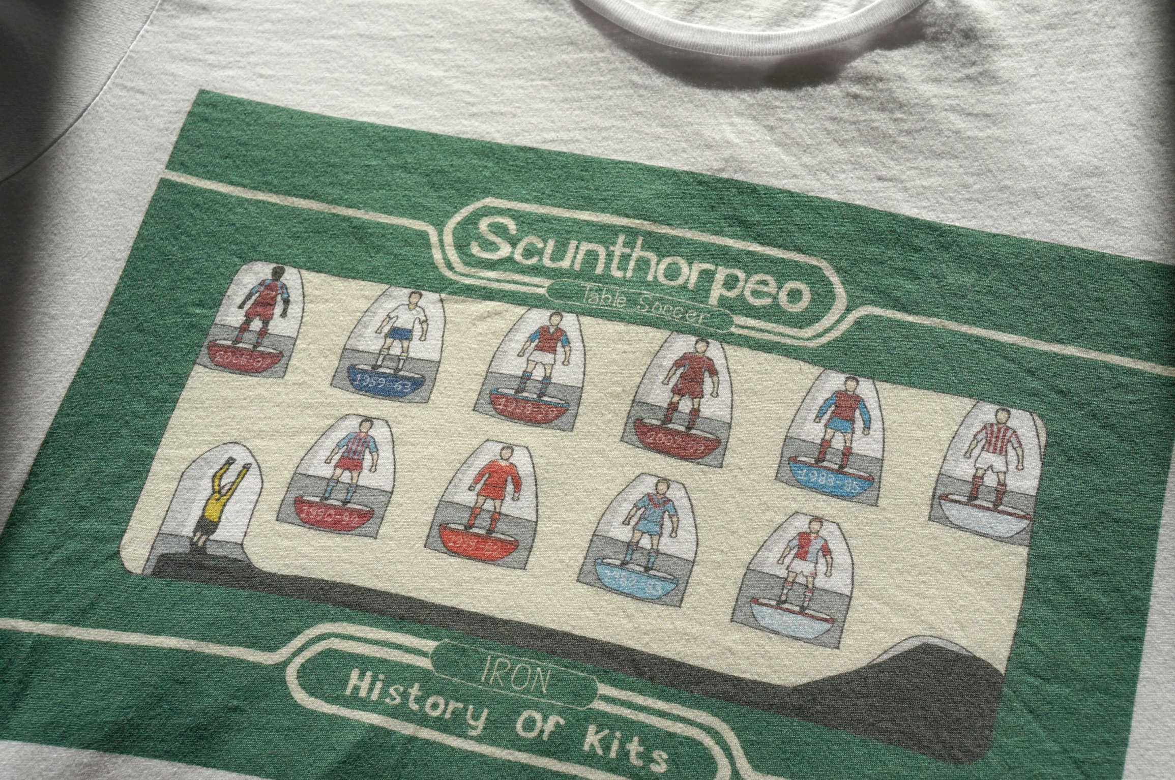 Scunthorpe Iron art t-shirt DTG