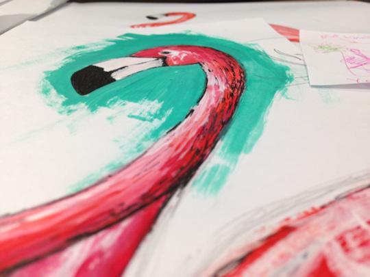 Sketchbook Flamingo Illustration