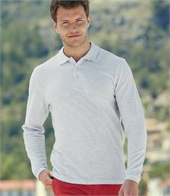 Fruit of the Loom Long Sleeve Pique Polo Shirt