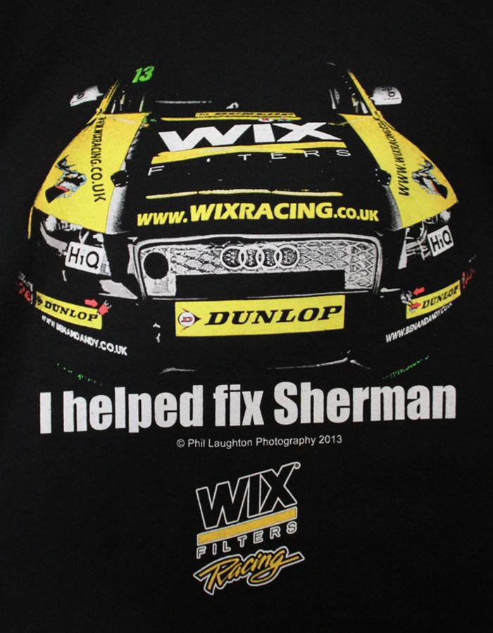 I helped fix sherman t-shirt