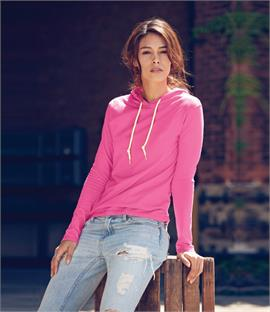 Anvil Ladies Fashion Basic Long Sleeve Hooded T-Shirt