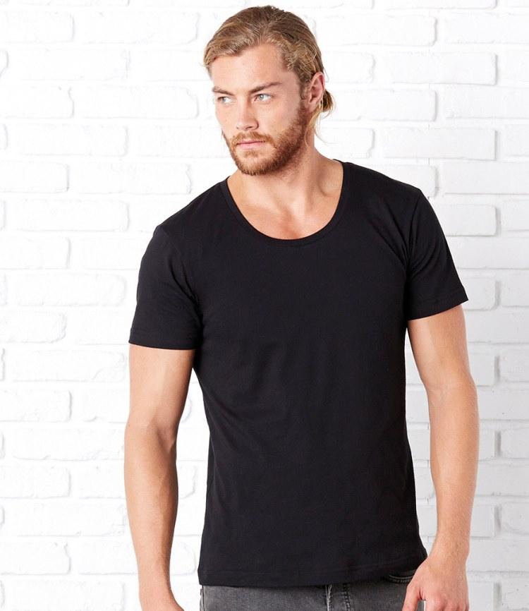 Canvas Wide Neck T Shirt