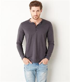 Canvas Long Sleeve Henley T-Shirt