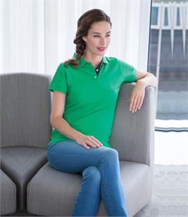 Henbury Ladies Contrast 65/35 Pique Polo Shirt