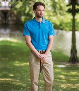 Henbury Coolplus Piped Polo Shirt