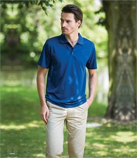 Henbury Cooltouch Textured Stripe Polo Shirt