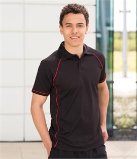 Finden & Hales Performance Piped Polo Shirt