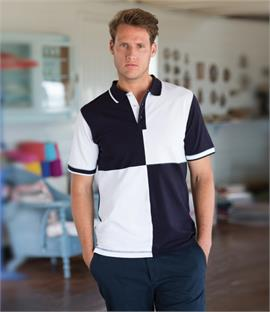 Front Row Quartered House Cotton Pique Polo Shirt