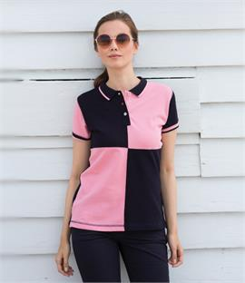 Front Row Ladies Quartered House Cotton Pique Polo Shirt