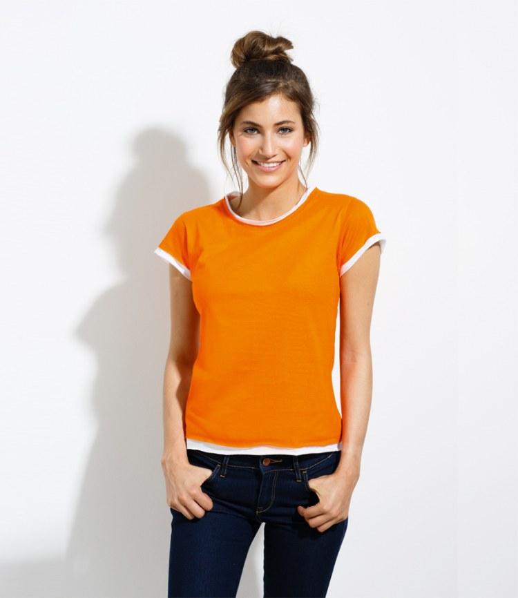 Sol 39 s ladies moorea raw edge t shirt fire label for Raw edge t shirt women s