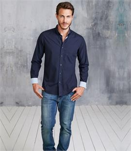 Kariban Long Sleeve Washed Poplin Shirt