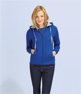 SOLS Ladies Soul Contrast Zip Hooded Jacket