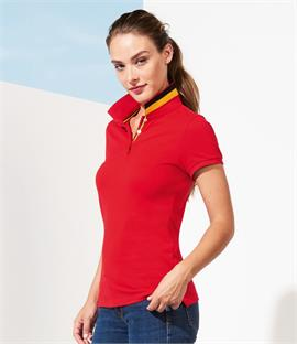 SOLS Ladies Patriot Cotton Pique Polo Shirt