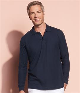 SOLS Star Long Sleeve Cotton Pique Polo Shirt