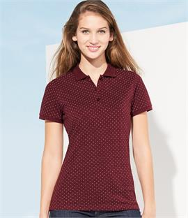 SOLS Ladies Brandy Polka Dot Pique Polo Shirt