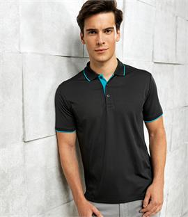 Premier Contrast Coolchecker Polo Shirt