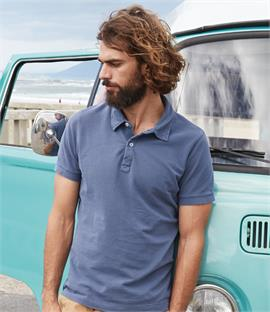 Kariban Vintage Washed Effect Pique Polo Shirt