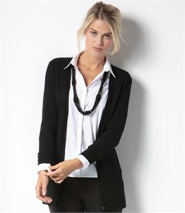 Kustom Kit Ladies Long Line V Neck Cardigan
