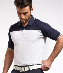 Glenmuir Golf Contrast Piqué Polo Shirt