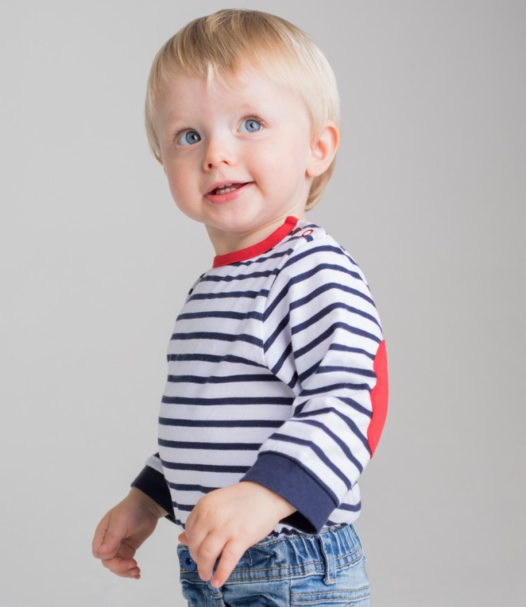 b76028fc2 Larkwood Baby/Toddler Striped Long Sleeve T-Shirt - Fire Label