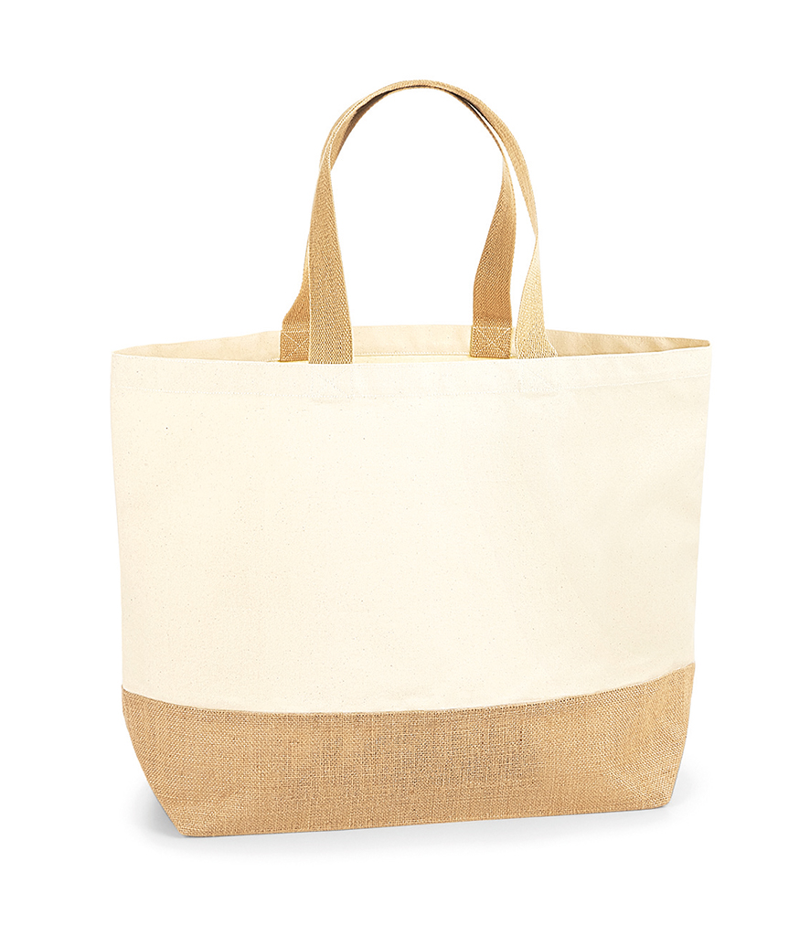 890d760c762 Westford Mill Jute Base Canvas Tote XL - Fire Label