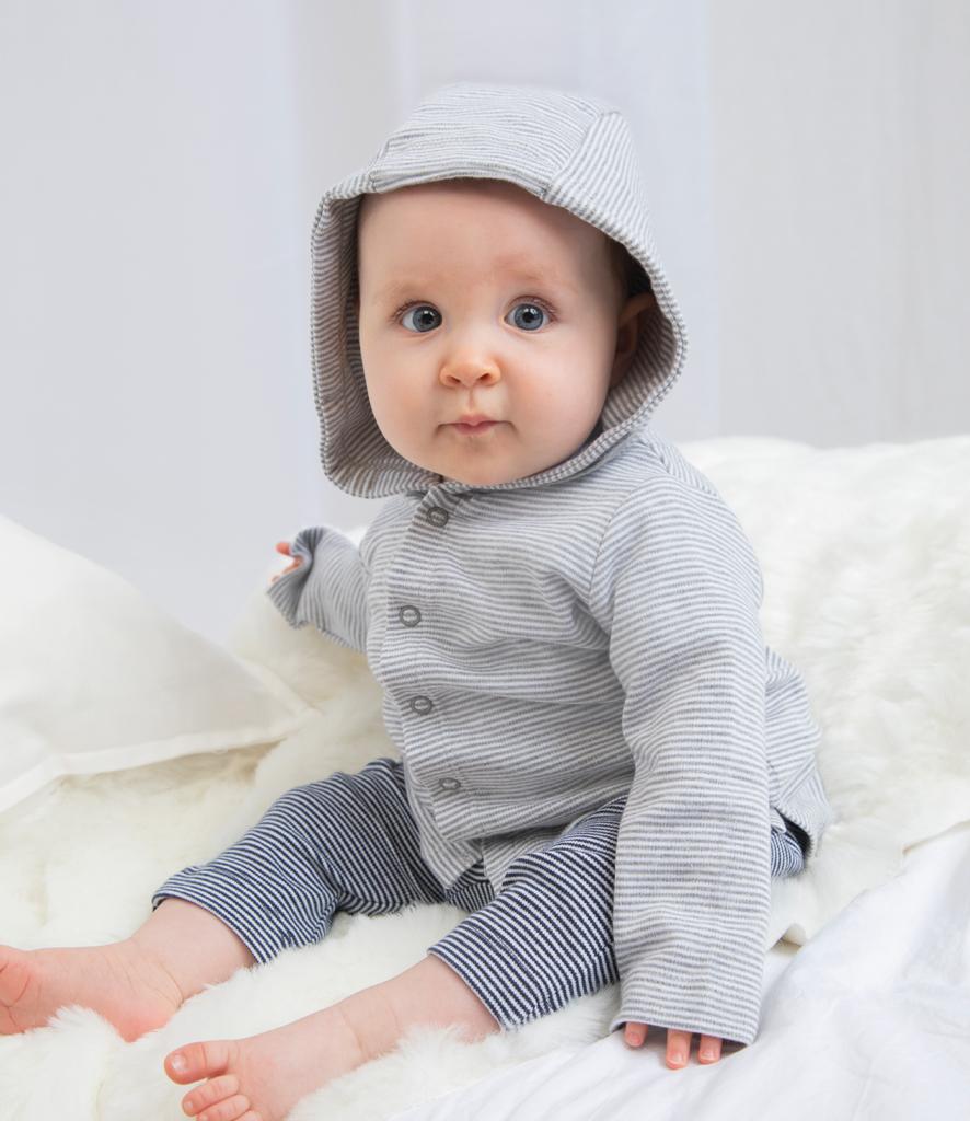 3-6 Months White//Nautical Navy Babybugz Baby Breton Top