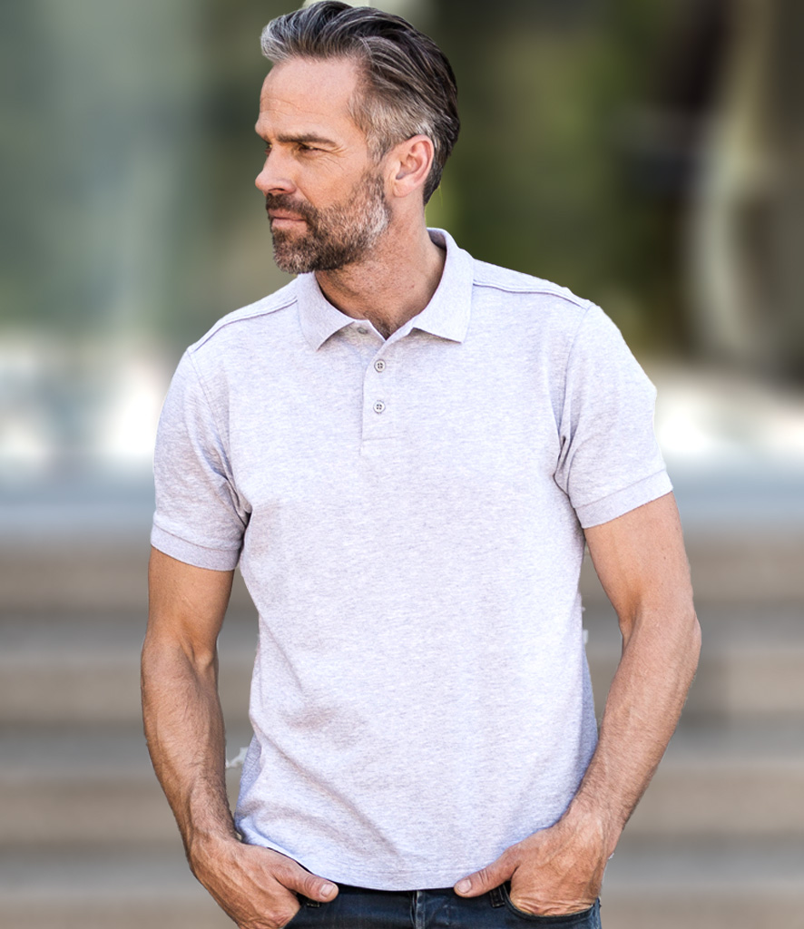 ad5360951d Russell Tailored Stretch Piqué Polo Shirt