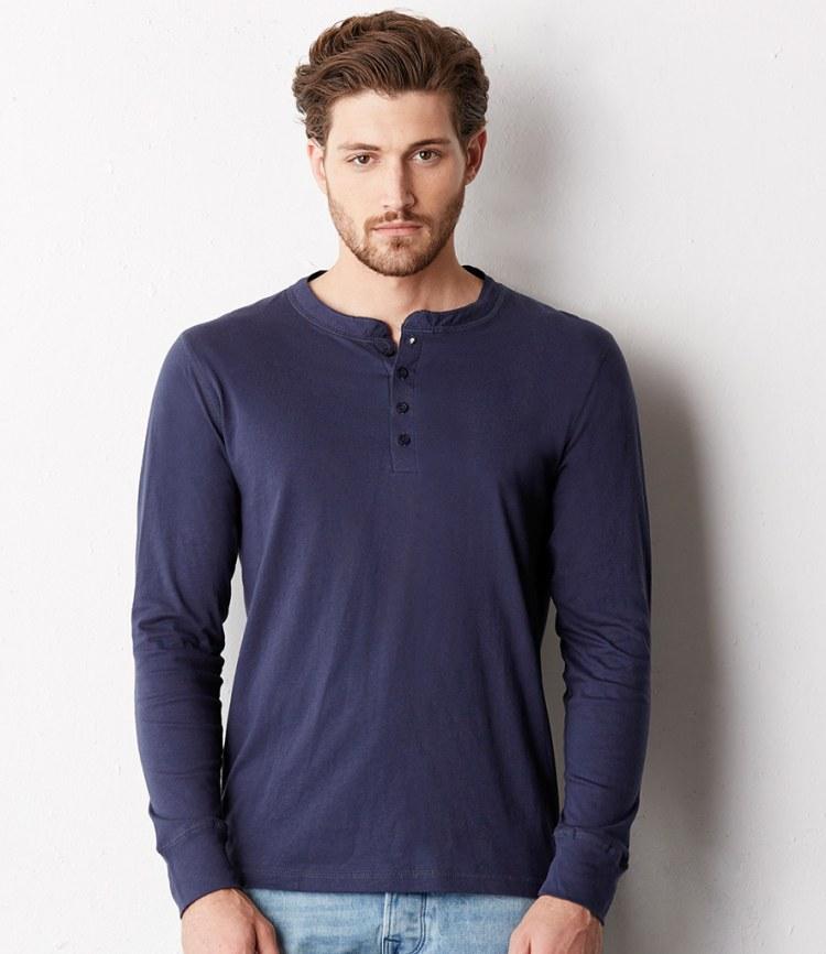 281a7341189 Canvas Long Sleeve Henley T-Shirt