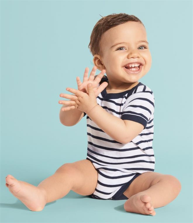 DISCONTINUED SOLS Miles Stripe Baby Bodysuit