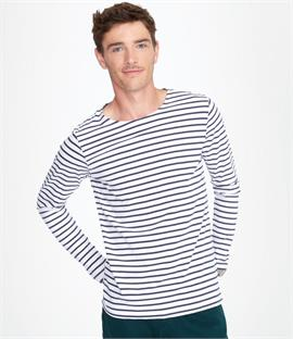 SOLS Marine Long Sleeve Stripe T-Shirt