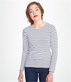 SOLS Ladies Marine Long Sleeve Stripe T-Shirt