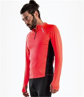 SOLS Berlin Long Sleeve Zip Neck Running Top
