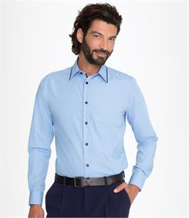 SOLS Baxter Long Sleeve Contrast Fitted Shirt