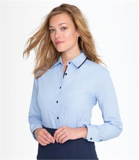 Ladies Baxter Long Sleeve Contrast Fitted Shirt