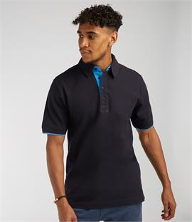 Front Row Contrast Pique Polo Shirt