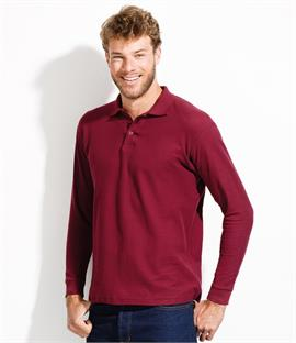 SOLS Winter II Long Sleeve Pique Polo Shirt