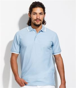SOLS Practice Tipped Pique Polo Shirt