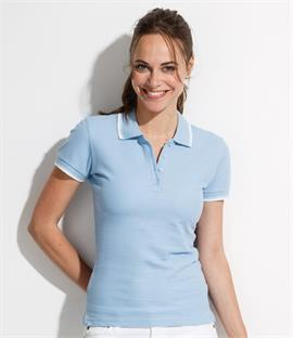 SOLS Ladies Practice Tipped Pique Polo Shirt