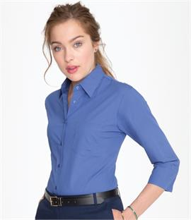 SOLS Ladies Eternity 3/4 Sleeve Poplin Shirt