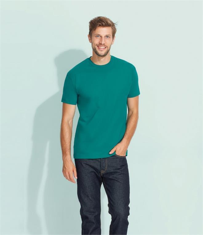 SOLS Mens Imperial Heavyweight Short Sleeve Plain Colour T-Shirt PC290