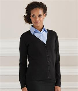 Russell Collection Ladies V Neck Cardigan