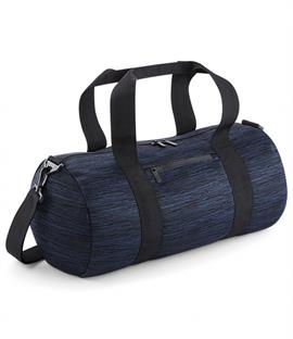 BagBase Duo Space Knit Barrel Bag