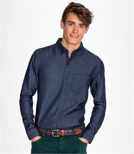 SOLS Barry Long Sleeve Denim Shirt
