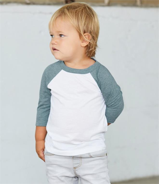 Canvas Toddler 3/4 Sleeve Baseball T-Shirt