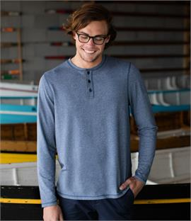 Front Row Washed Long Sleeve Henley T-Shirt