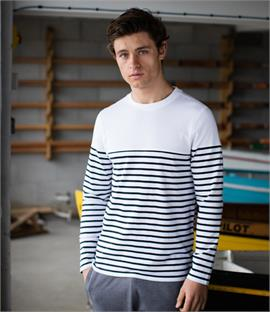 Front Row Long Sleeve Breton Stripe T-Shirt