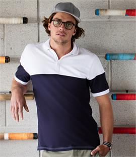 Front Row Contrast Stretch Piqué Polo Shirt